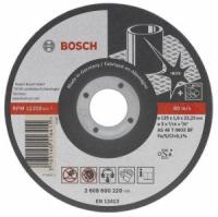 Bosch Круг отрезной по нержавеющей стали 125х1,0 Bosch (2 608 600 549) для УШМ